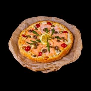 Пицца сливочный лосось 25 см.